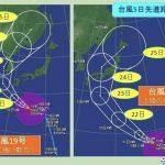 台風19号20号